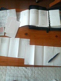 手帳と目標と有言実行